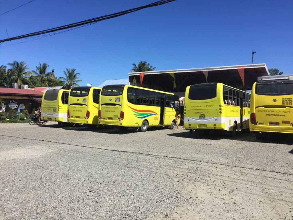 Ceres Bus Cebu City to Hagnaya Port