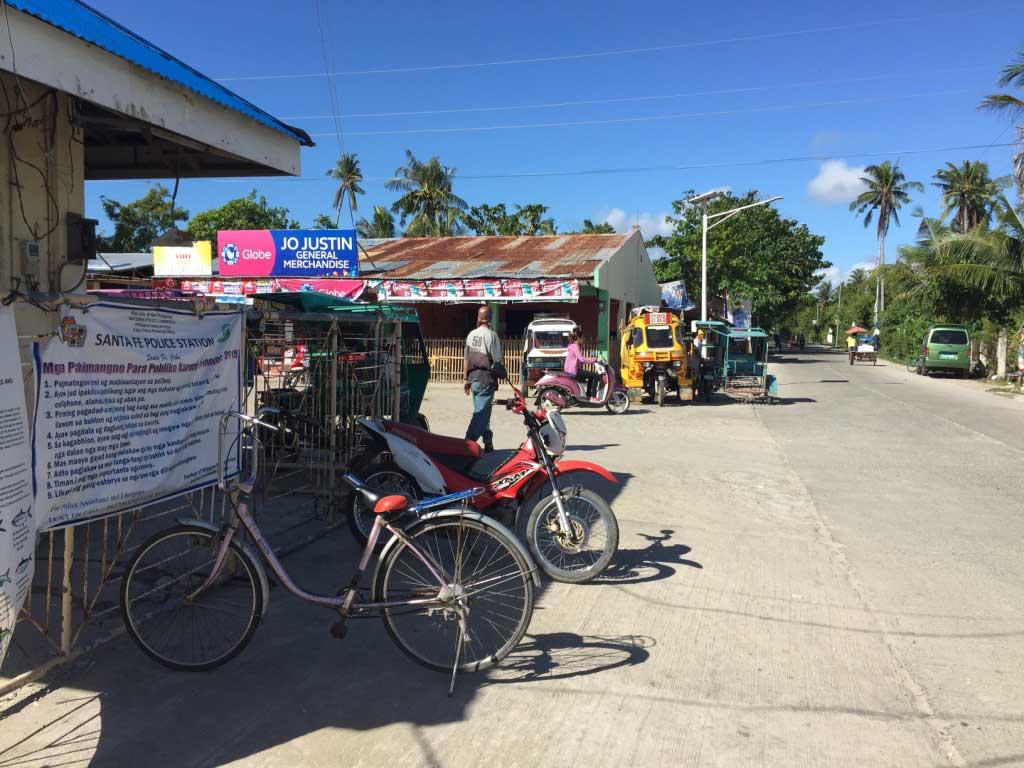 Santa-Fe-Port-Bantayan-Island-Motorbike-Taxi-Bicycle