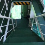 Santa Fe Port Bantayan Island Cebu Philippines Stairs on the Ferry